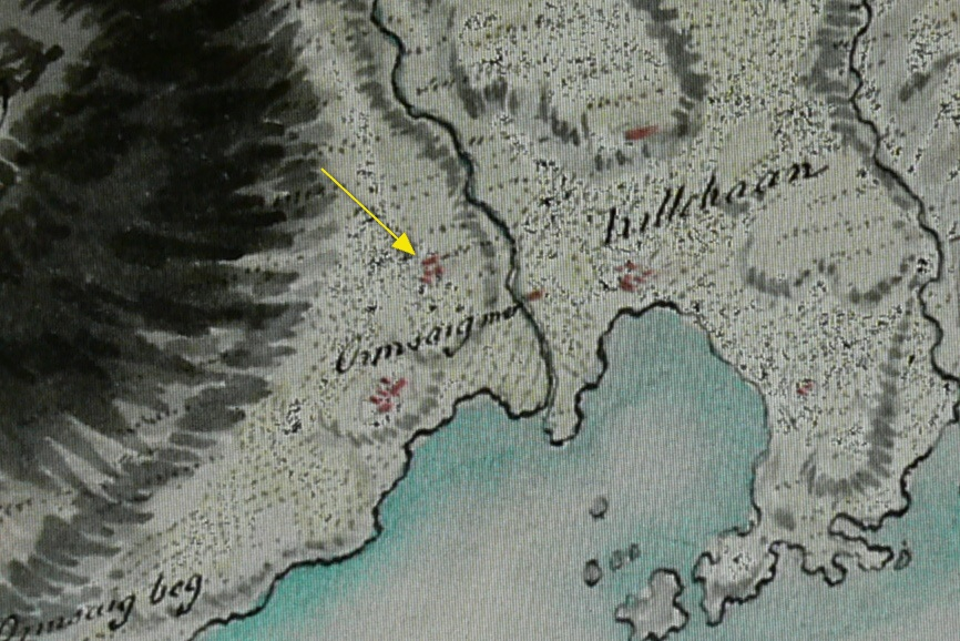 Roy Military map Ormsaigmore