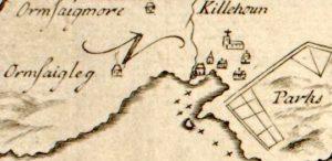 Bruce map 1733