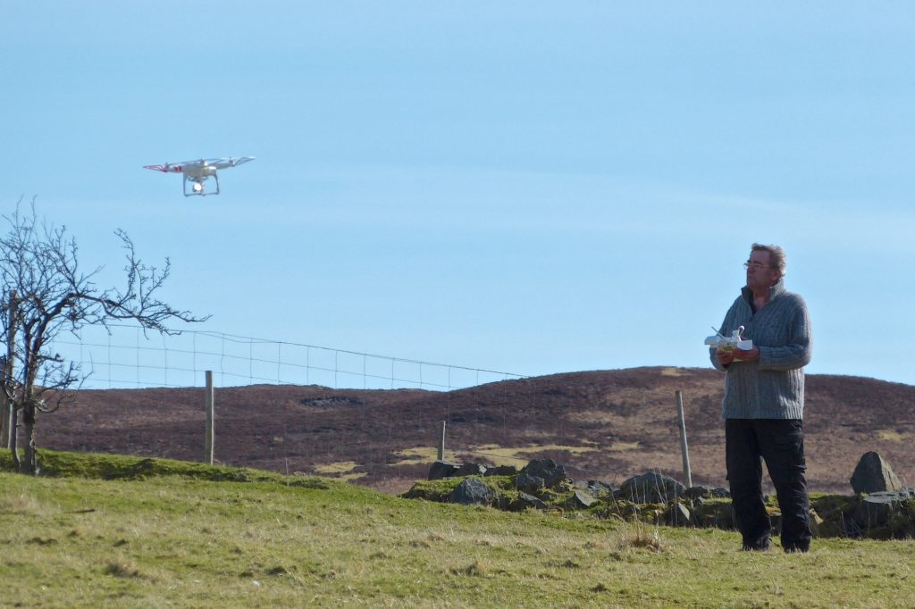 Deploying modern technology: using a quadcopter to survey cottars dwellings at Branault