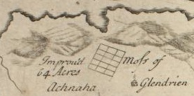 Glendrian map Bruce 1733