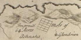 Glendrian map Bruce 1733