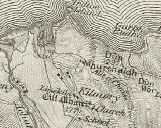 OS map Kilmory 1856
