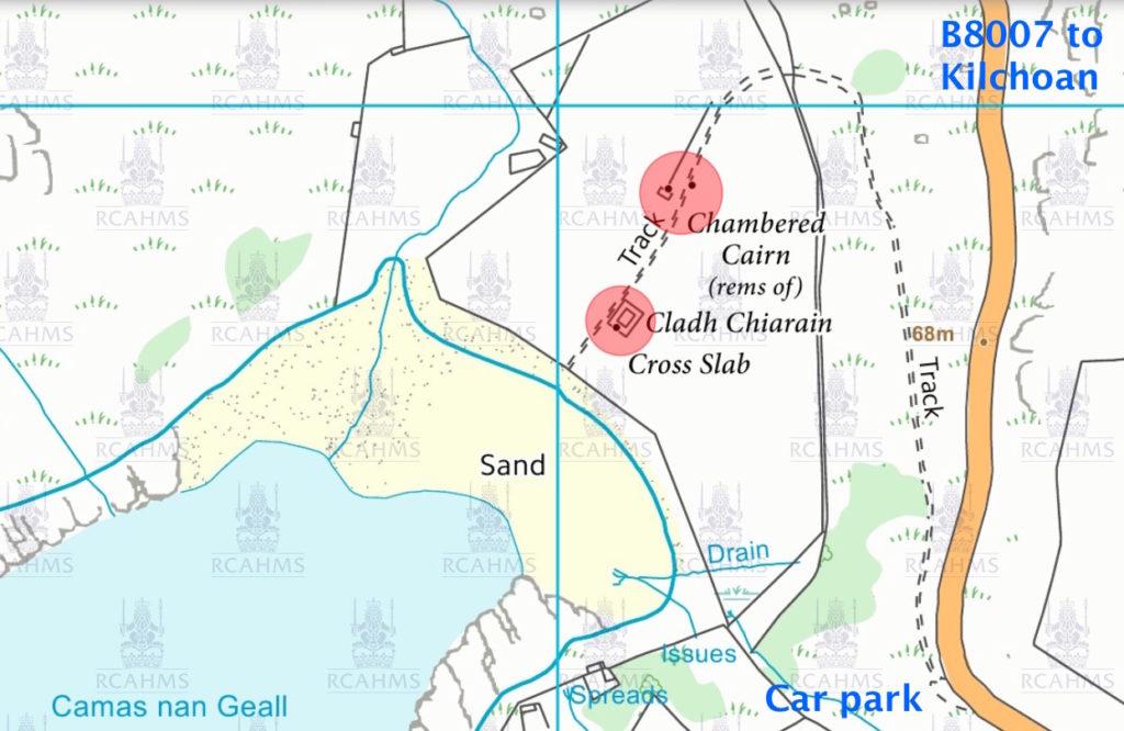 Camas nan Geall map